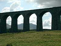 looking through ribblehead viaduct
